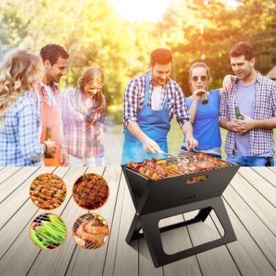 Pack 3en1 Barbecue Portable avec Soufleur 400w avec Aiguiseur de couteaux, imychic