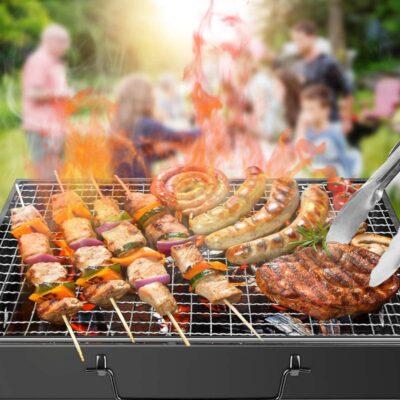 Barbecue Grill Portable Pliable Nouveau Modèle Valise, imychic
