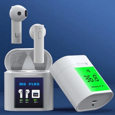Écouteur Bluetooth sans Fil à Température Corporelle TWS M6 PLUS, imychic