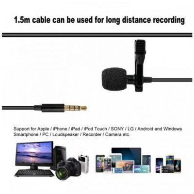 Lavalier Microphone Audio Port 3.5mm AUX Longueur 1m GL-119, imychic